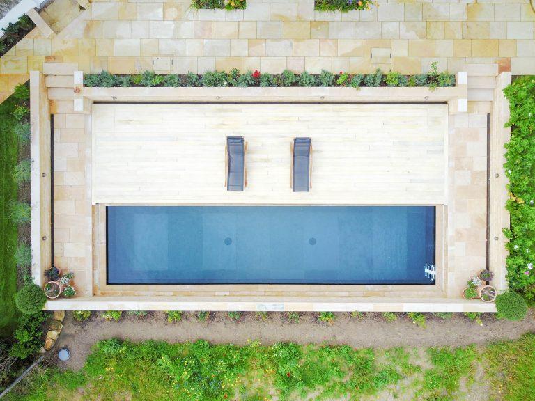 Modern natural pool