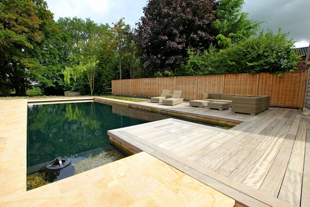 Outdoor natural pool Natural swimming pool builders